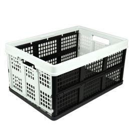 Sammenleggbar kasse - 46 liter - lysegrå og svart
