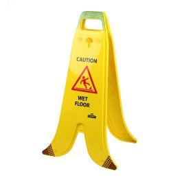 Sammenleggbart A-skilt, banan, for glatte gulv