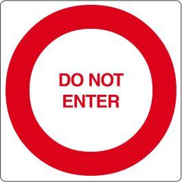 """Gulvpiktogram for """"Do Not Enter"""""""