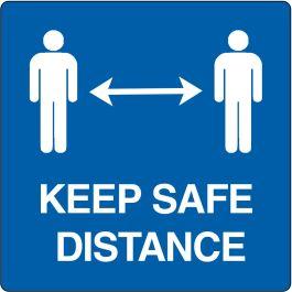 """Gulvpiktogram for """"Keep safe distance"""""""