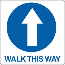 "Gulvpiktogram for ""Walk This Way"""