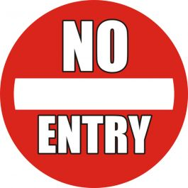 "Anti-skli piktogram gulv : ""No Entry"""