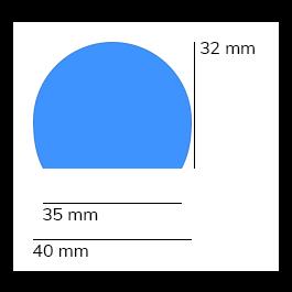 Støtfanger, modell 3 — 1 m