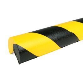 PRS-støtfanger for hjørner, modell 4 — gul/sort — 1 m