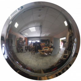 360° konveks speil