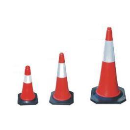 Rød/hvit trafikkjegle