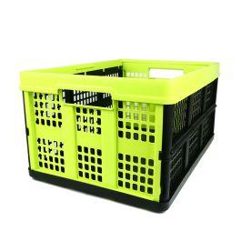 Sammenleggbar kasse - 46 liter - lime og svart