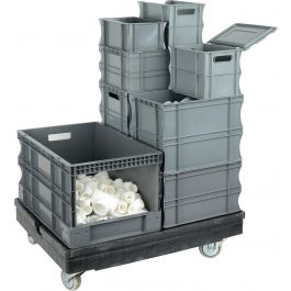 Oppbevaringskasser i plast med rette vegger
