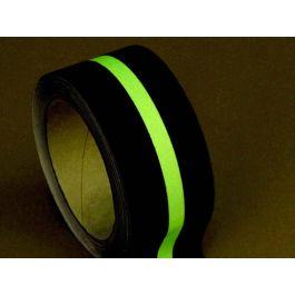 Sklisikker tape (svart) med selvlysende stripe