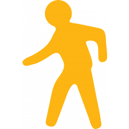 Gangveipiktogram for merking av gulv, sklisikker
