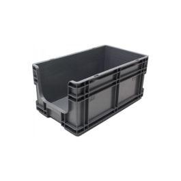 Oppbevaringskasse med rette vegger og åpen front, 260x505x210 mm