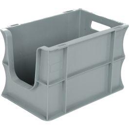 Oppbevaringskasse med rette vegger og åpen front, Eurokasse 200x300x200 mm