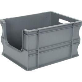 Oppbevaringskasse med rette vegger og åpen front, Eurokasse 300x400x235 mm