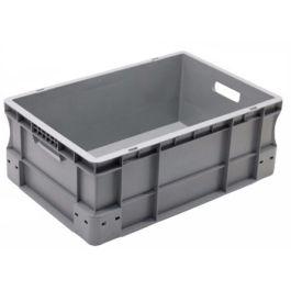 Oppbevaringskasse med rette vegger, Eurokasse 400x600x230 mm