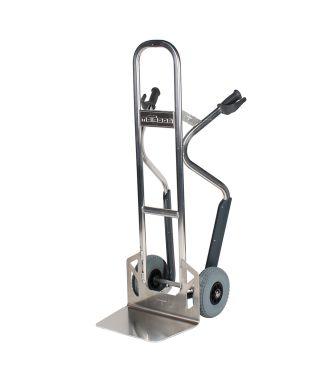 Matador NST250CT sekketralle i aluminium med trappeglider; lastekapasitet på 350 kg