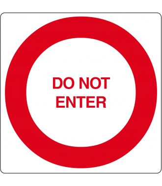 "Gulvpiktogram for ""Do Not Enter"""