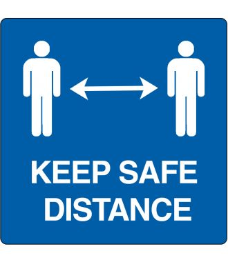 "Gulvpiktogram for ""Keep safe distance"""