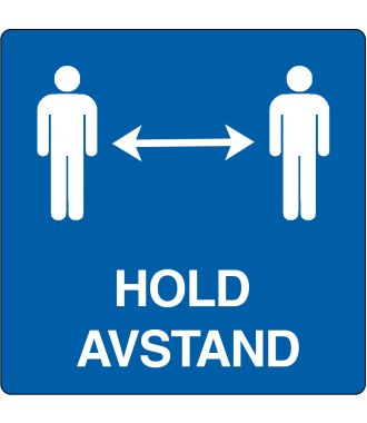 "Gulvpiktogram for ""Hold avstand"""