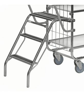 Kongamek folding step ladder for KM8000 shelf trolley