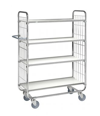 Kongamek trolley with four adjustable shelves, load capacity of 250 kg