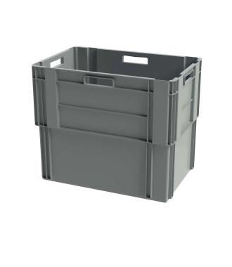 Euronorm stabelbar kasse, 400x600x500 mm