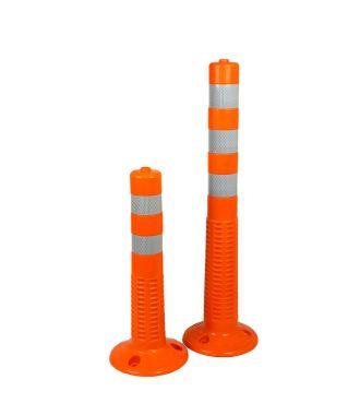 Flexible plastic post