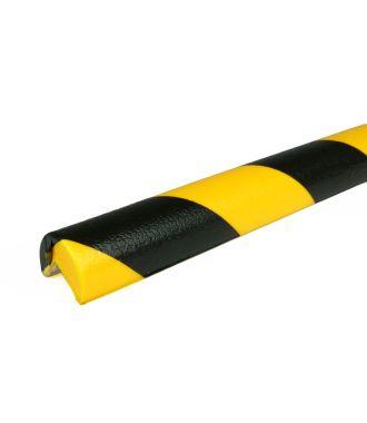 PRS-støtfanger for hjørner, modell 1 — gul/sort — 1 m