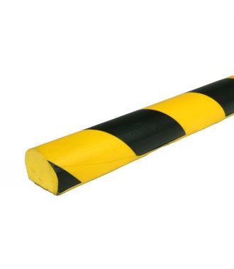 PRS-støtfanger for flate overflater, modell 3 — gul/sort — 1 m