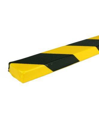 PRS-støtfanger for flate overflater, modell 43 — gul/sort — 1 m