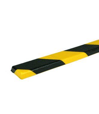 PRS-støtfanger for flate overflater, modell 44 — gul/sort — 1 m