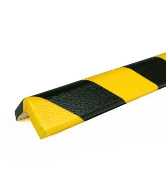 PRS-støtfanger for hjørner, modell 7 — gul/sort — 1 m