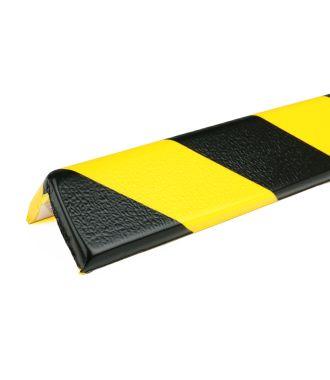 PRS-støtfanger for hjørner, modell 8 — gul/sort — 1 m
