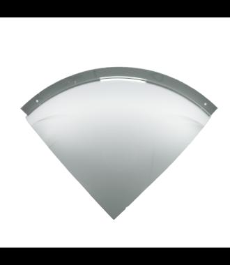 90° konveks speil