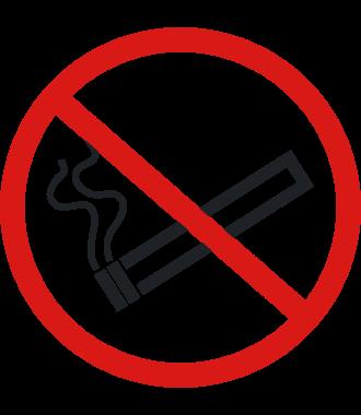 """Anti-skli piktogram gulv: """"Røyking forbudt"""""""