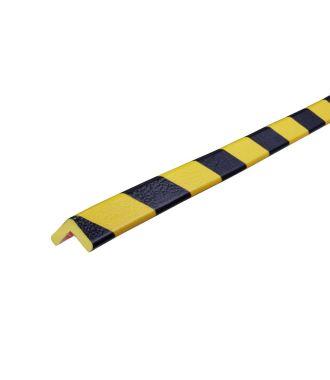 Knuffi beskyttelsesprofil for hjørner, type E — gul/sort — 5 m