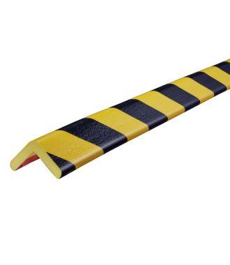 Knuffi beskyttelsesprofil for hjørner, type H — gul/sort — 5 m