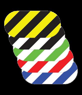 Oval, stripete