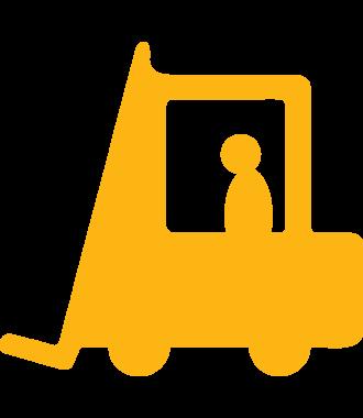 Gaffeltruckpiktogram for merking av gulv, sklisikker