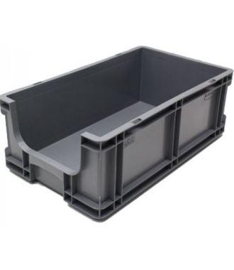 Oppbevaringskasse med rette vegger og åpen front, 260x505x165 mm