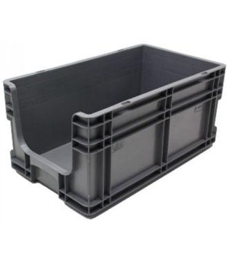 Oppbevaringskasse med rette vegger og åpen front, 295x505x235 mm