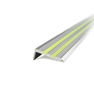 Selvlysende aluminium trinnkant