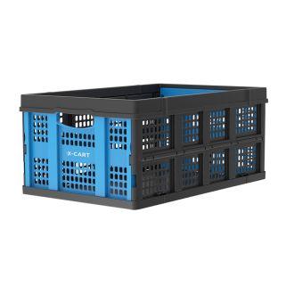Sammenleggbar kasse - 49 liter - blå og svart