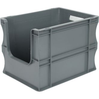 Oppbevaringskasse med rette vegger og åpen front, Eurokasse 300x400x290 mm