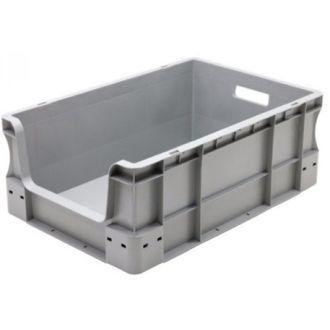Oppbevaringskasse med rette vegger og åpen front, Eurokasse 400x600x230 mm